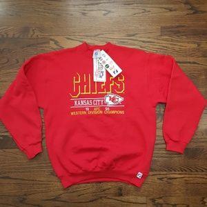 Other - Vintage Kansas City Chiefs 95 AFC Champ Sweatshirt